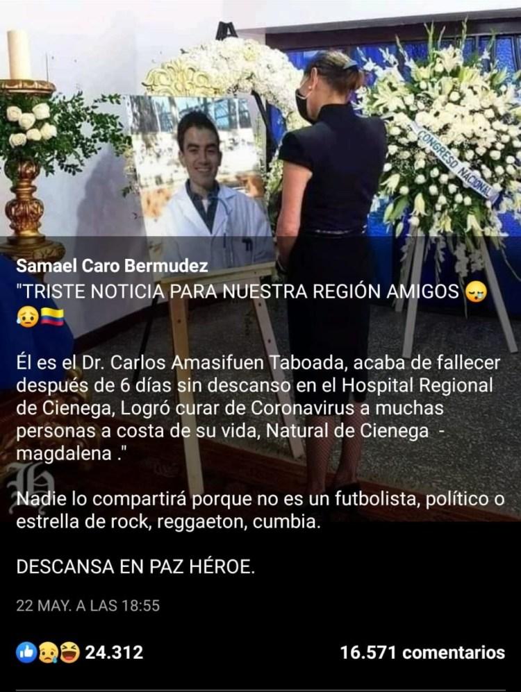 El Doctor Carlos Amasifuen Taboada ha muerto 😢