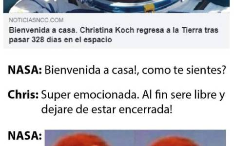 La astronauta Christina Koch vuelve a la Tierra después de pasar casi un año entero en el espacio