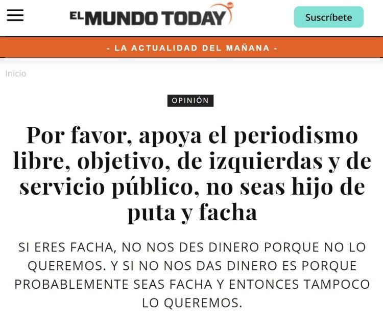 Parece que Ignacio Escolar ha comprado El Mundo Today