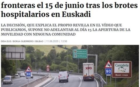 Adiós a la operación ÉXODO: Cantabria cierra su frontera para evitar la invasión de vascos