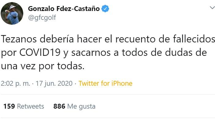 Gonzalo Fdez-Castaño es un golfista que sabe cómo tratar a los trolls