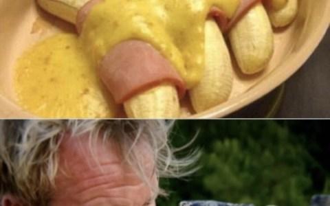 Plátanos, jamón york, y salsa holandesa... ¿Hay hambre?