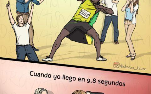 Cuando tienes algo en común con Usain Bolt, pero no lo que te gustaría...