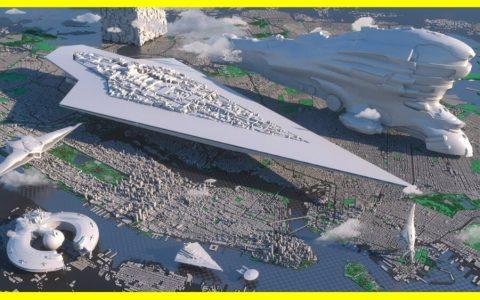 El tamaño de todas las naves icónicas del cine de ciencia ficción en 3D