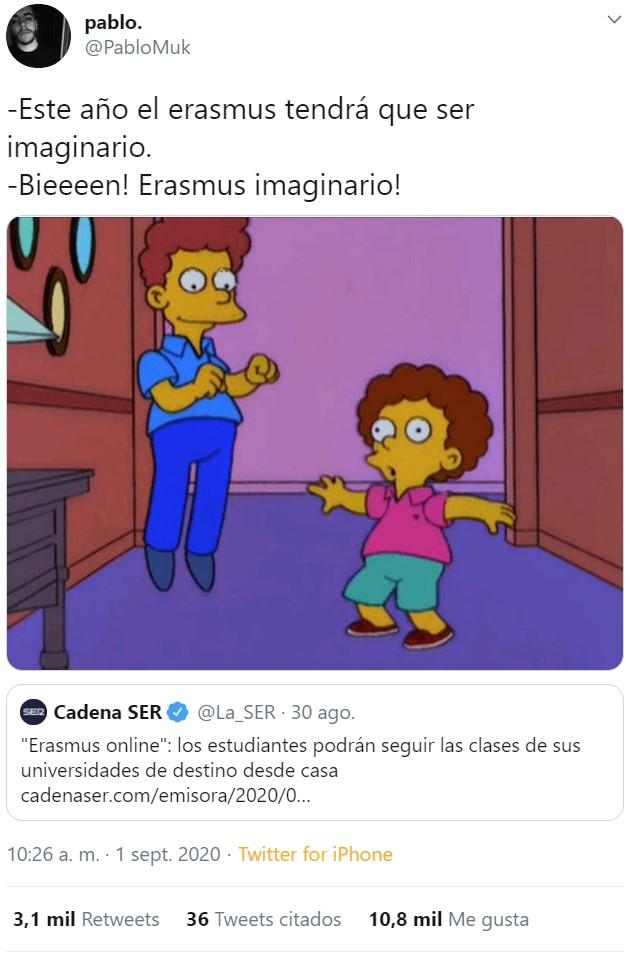 Eres más triste que un Erasmus Online