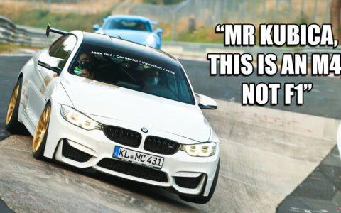 Robert Kubica sacándole las tripas a un BMW M4 en Nurburgring