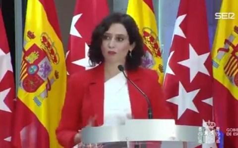 """""""Madrid es de todos. Madrid es España dentro de España. ¿Qué es Madrid si no es España? No es de nadie porque es de todos. Todo el mundo utiliza Madrid, todo el mundo pasa por aquí. Tratar a Madrid como al resto de comunidades es muy injusto a mi juicio"""""""