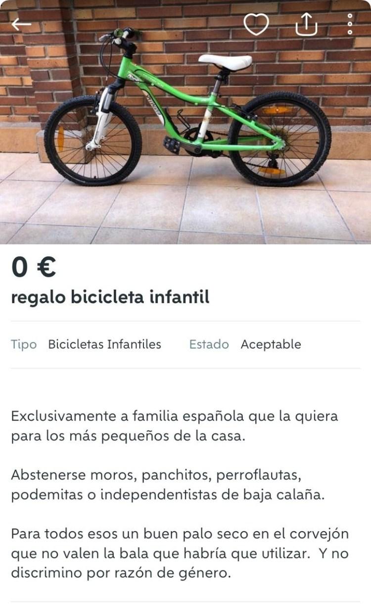 Abascal vende bici