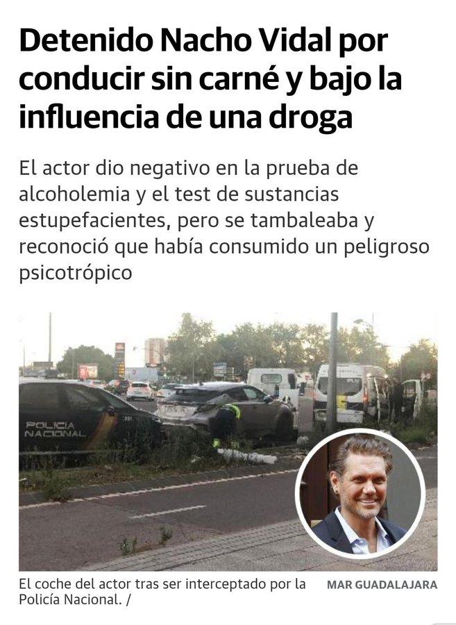 Nacho Vidal detenido por conducir bajo los efectos de los psicotrópicos