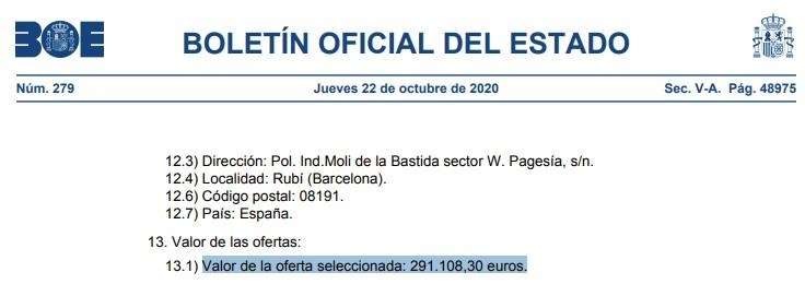 El chollazo del mes: 291.000 euros por almacenar el volumen equivalente a una plaza de garaje en geles hidroalcohólicos