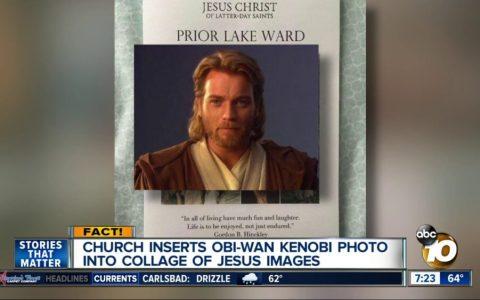 Una iglesia confunde a Jesús con Obi-Wan Kenobi en un boletín que envía a sus fieles