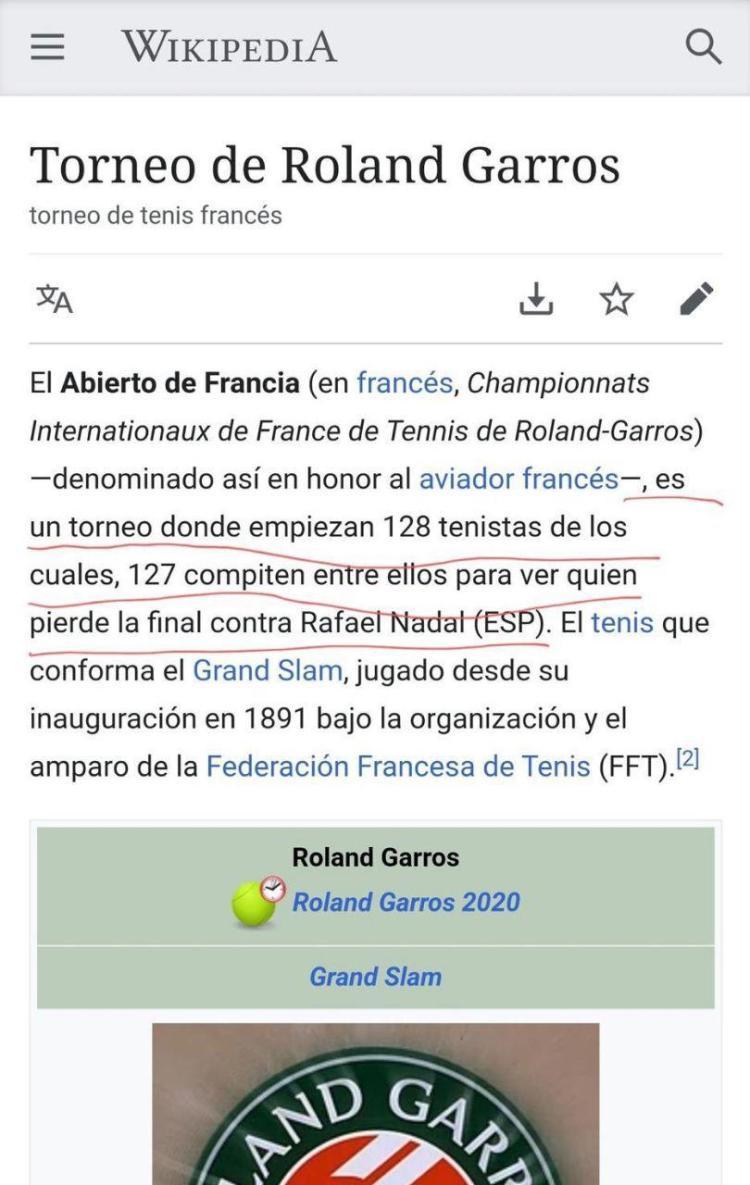 Nueva definición de Roland Garros