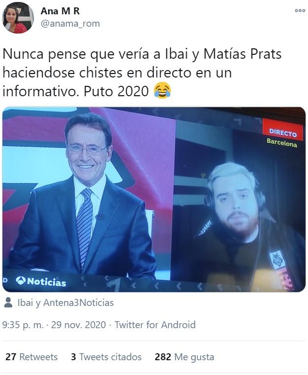 Matías Prats le tira la caña a Ibai en directo para jugar al Among Us