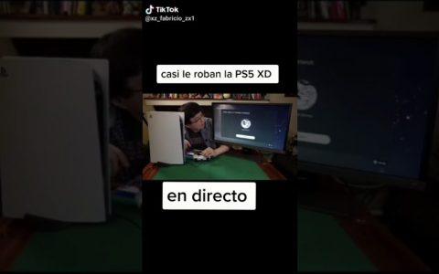 Le intentan robar la PS5 en directo por poner el código QR a la vista durante un directo