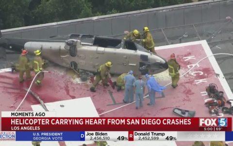 Se estrella el helicóptero que transportaba un corazón para un trasplante, y el órgano sobrevive, pero aún le quedaba otro accidente por aguantar