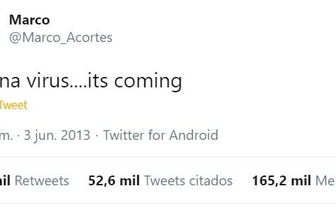 Un tuit cualquiera de 2013... ¿O UN VIAJERO EN EL TIEMPO?