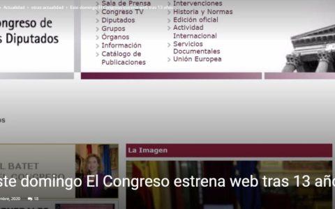 El congreso estrena página web... adivinad cuánto ha costado