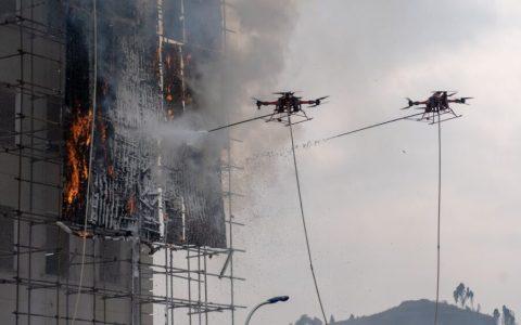 Llegan los drones bombero