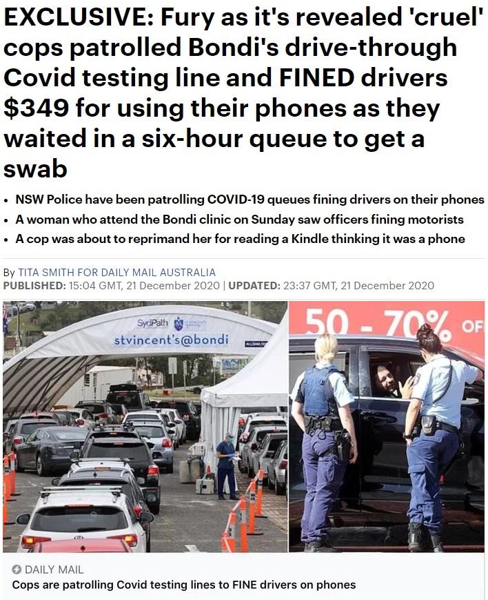 La gente haciendo colas de 6 horas para que les hagan una PCR y la policía británica cree que es buena idea multarles con 300 pavos por mirar el móvil...