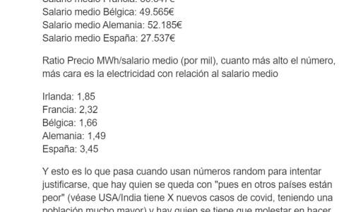Más cosas que no son culpa del gobierno, como imponer un 21% de IVA sobre los impuestos del precio de la luz