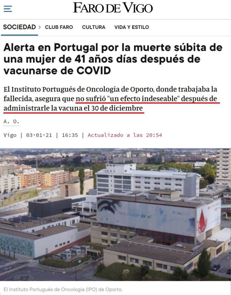 """""""Una mujer lee El Faro de Vigo y al día siguiente muere de muerte súbita"""""""
