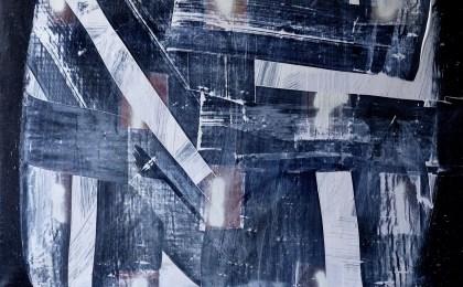 A Jean Vigo/    Óleo e spray sobre tea/    54×65 cm/    2010