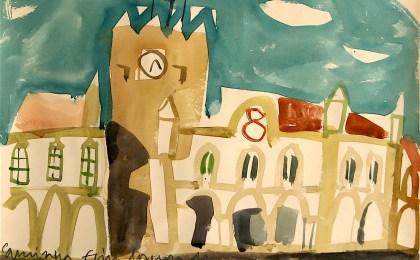 Caminha/    Acuarela sobre papel/    27×35 cm/    2011