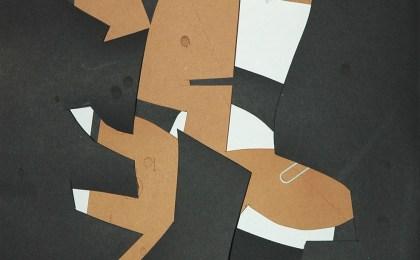Freddie Freeloader 2/    Papel recortado/    33×25 cm/    2005