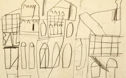 A casa de Lúa/     Lapis sobre papel/     21×29 cm/    2012