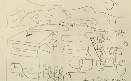 Paisaje cerca de Monforte /  Lapis sobre papel / 21×29 cm / 2003