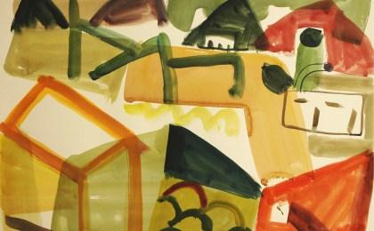 O silo verde /  Acuarela sobre papel /  51×66 cm / 2009