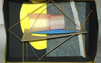 Ulises 1/    Ensamblaxe en caixa de cartón/   31x40x15 cm/   2004
