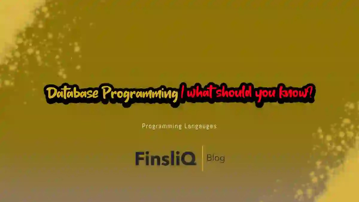 Database Programming what should you know