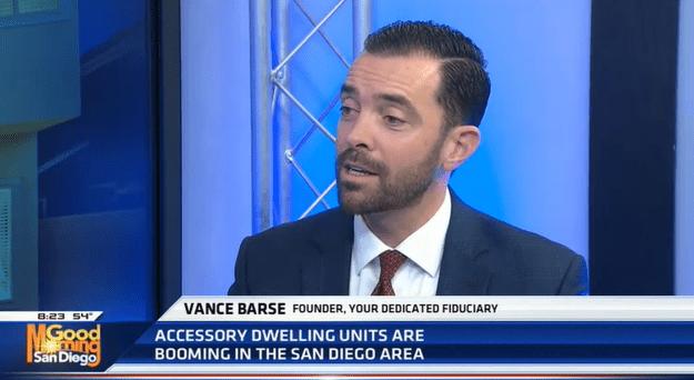 Vance Barse, Your Dedicated Fiduciary, on KUSI, Good Morning San Diego