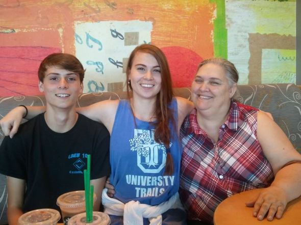 My brother, me, and my mom at the Memphis airport July 1