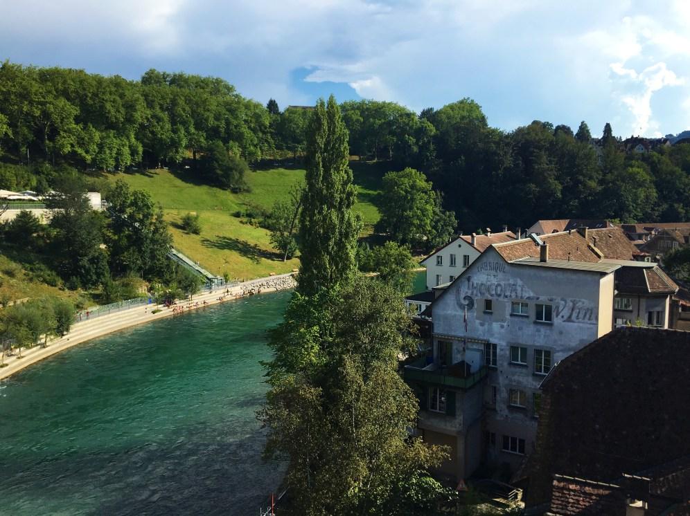 The Aare river in Bern