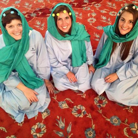 The Blue Mosque was beautiful. And we got to wear these awesome outfits. Double score.