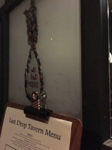 The creative and creepy Last Drop logo.