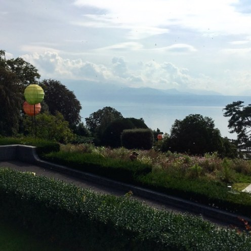 A view from the Olympic Museum in Lausanne