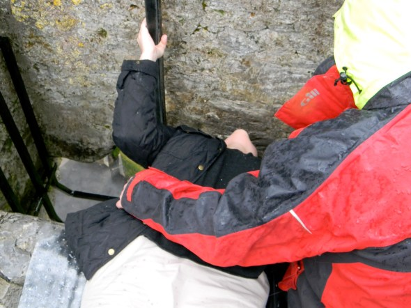 Here I am kissing the Blarney Stone. (This is for you, Morgan.)  I don't know why this pic got left out of my Facebook album, but here it is. Legend says that now I'll have 7 years of eloquent speech for kissing it.  I say I'll have 20 diseases I didn't have before.
