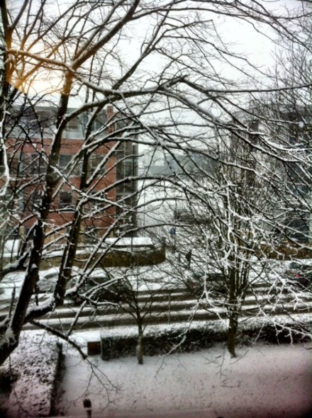 View from my bedroom window as I type.  Brrr.