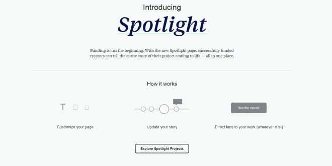 Kickstarter Gives Project Pages A Beautiful Facelift