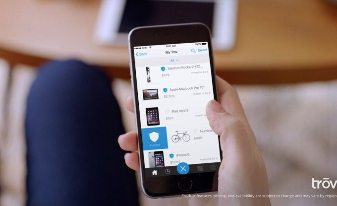 With $25.5M in new funding, Trov launches on-demand insurance for individual items