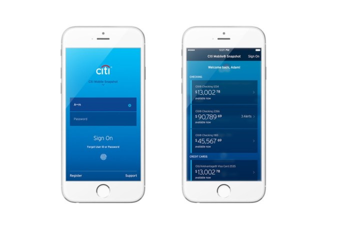 Citi introduces Touch ID