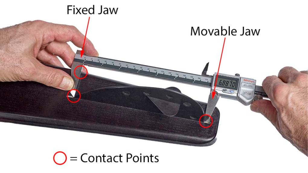 measuring water ski FL fin length