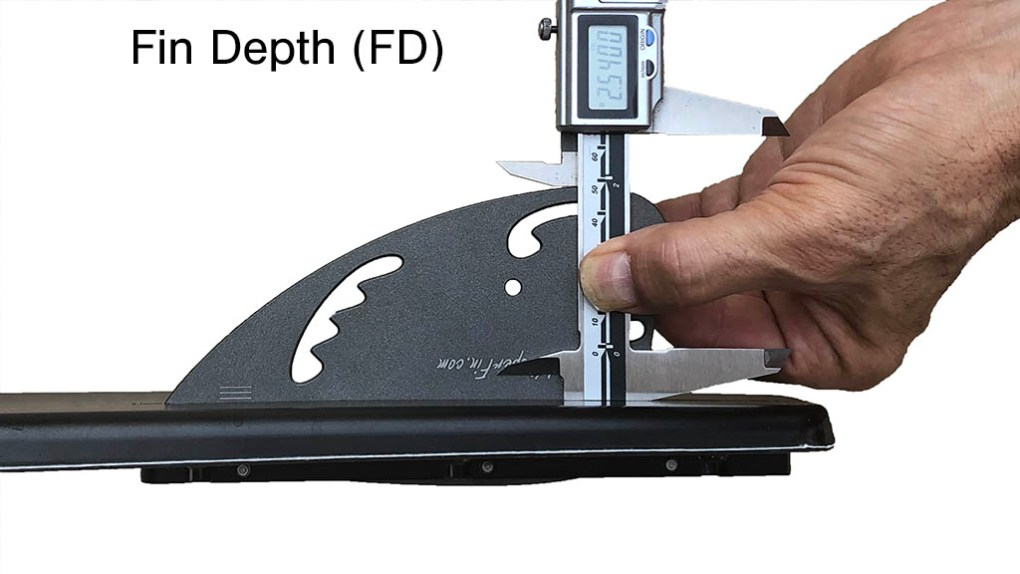Measuring Fin Depth FD