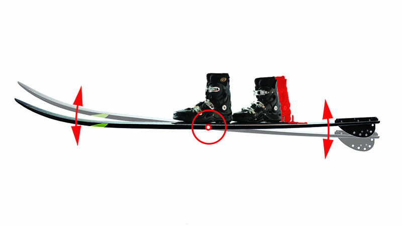 spacing between water ski bindings