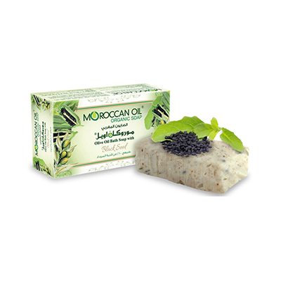 Olive Oil Bath soap with Black seed extract by Moroccan Oil
