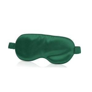 Lecler green silk eye mask