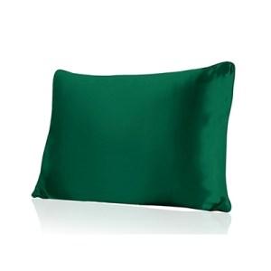 Lecler green silk pillow case